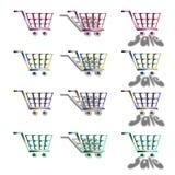 carts шток покупкы иллюстрации Стоковое Изображение RF