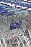 Supermarket trolleys of Ahold Albert Heijn,Netherlands  Royalty Free Stock Images