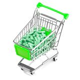 Carts filled with pills Royalty Free Stock Image