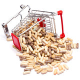 Carts filled with pills Royalty Free Stock Photo