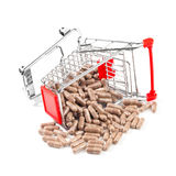 Carts filled with pills Stock Photos