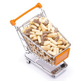 Carts filled with pills Stock Image