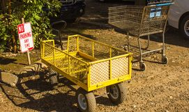 Carts Parked In No Parking Zone Royalty Free Stock Image