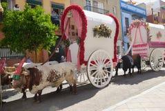 Carts Pilgrimage El Rocio Royalty Free Stock Images
