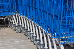 Carts for purchases Stock Photos