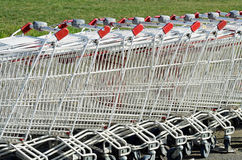 Carts stacked Stock Photos