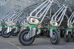 carts supermarketen Fotografering för Bildbyråer
