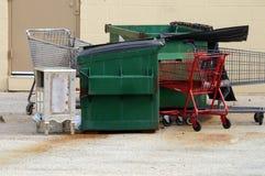Carts and Trash Stock Image