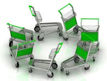 Carts on wheels for the airport Stock Photography