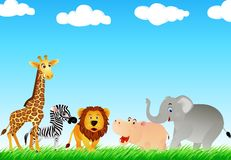 Cartton animale nel selvaggio Immagine Stock