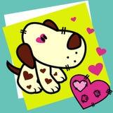 Cartton dog vector. Love illustration Royalty Free Stock Photos