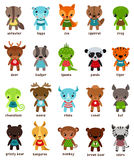 Cartton smiling animal kids Royalty Free Stock Image