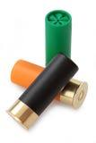 Cartucce del fucile da caccia Fotografia Stock