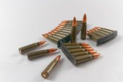 7 cartucce del fucile della fucilazione dell'obiettivo di calibro 62x39 Immagine Stock