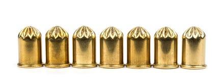 Cartucce del gas ed in bianco per le pistole! Fotografia Stock Libera da Diritti