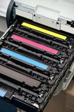 Cartucce di toner della stampante a laser di colore Immagine Stock Libera da Diritti
