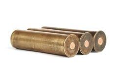 Cartucce per fucili a canna liscia d'ottone dell'annata Fotografia Stock Libera da Diritti