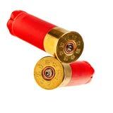 Cartucce per fucili a canna liscia rosse. Fotografia Stock