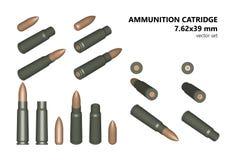 Cartucce per l'arma automatica Royalty Illustrazione gratis