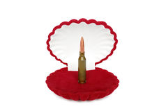 Cartuccia in casella rossa Fotografia Stock Libera da Diritti