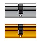 Cartuccia del cilindro della serratura di porta Fotografia Stock Libera da Diritti