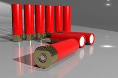 Cartuccia del fucile da caccia Fotografia Stock