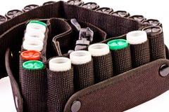 Cartucce per fucili a canna liscia isolate immagine stock for Costo della costruzione del fucile da caccia