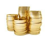 Cartucho de dinero de las monedas de oro Imagen de archivo libre de regalías
