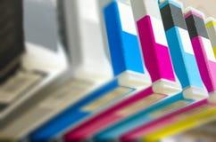 Cartucho de impressora a jato de tinta imagem de stock