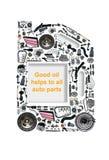 Cartucho de quatro ou cinco litros do óleo de motor Fotos de Stock