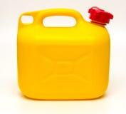 Cartucho plástico amarelo isolado Imagem de Stock Royalty Free