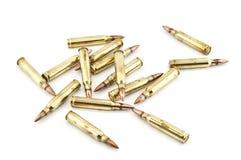 Cartucho um calibre de 5,56 milímetros. Fotografia de Stock