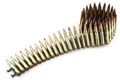 Cartucho um calibre de 7,62 milímetros. Fotografia de Stock