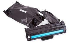 Cartucho usado del laser del toner fotos de archivo libres de regalías