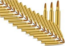 Cartucho vivo Imagem do vetor de um grupo de munição ilustração royalty free