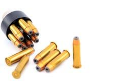 357 cartuchos de la bala con el cargador de la velocidad Fotografía de archivo