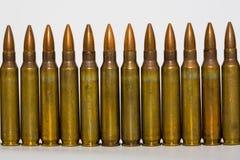 Cartuchos de M-16 5.56mm Fotografia de Stock Royalty Free