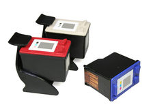 Cartuchos de tinta Imagen de archivo libre de regalías