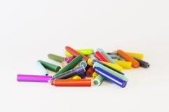Cartuchos de tinta da cor para uma pena imagens de stock