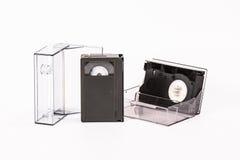 Cartuchos del vídeo de VHS-c Foto de archivo libre de regalías