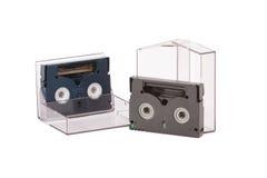 Cartuchos del vídeo VHS-c Imagen de archivo libre de regalías