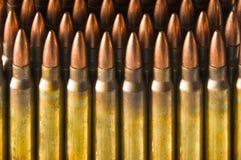 Cartuchos derechos del rifle Imagen de archivo