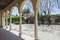 Cartuja monastery courtyard, Jerez de la Frontera Stock Photography