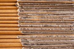 Cartulina acanalada de papel modelada Fotos de archivo libres de regalías