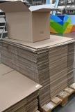 Cartulina acanalada para empaquetar Fotos de archivo libres de regalías