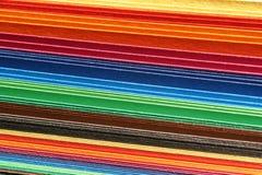 Cartulina coloreada Imagenes de archivo