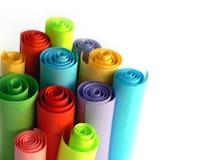 Cartulina colorida Fotografía de archivo libre de regalías