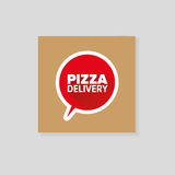 Cartulina de la entrega de la pizza Fotos de archivo