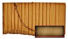 Cartulina de la vendimia Fotos de archivo