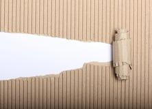 Cartulina de papel y rasgada Imagen de archivo libre de regalías
